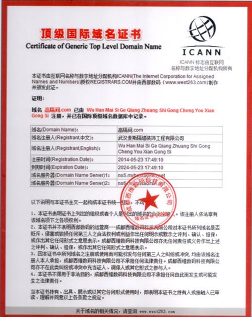 国际域名证书