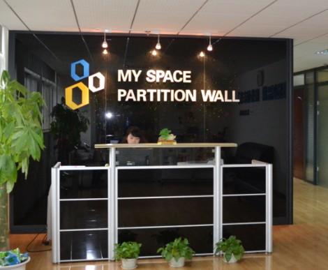 公司形象墙玻璃隔断