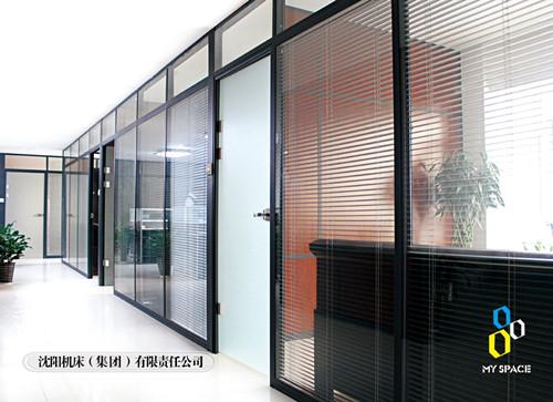 双层玻璃夹百叶隔墙